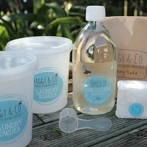 Figgy and Co natural laundry starter pack nontoxic eco green washing powder laundry soaker nz
