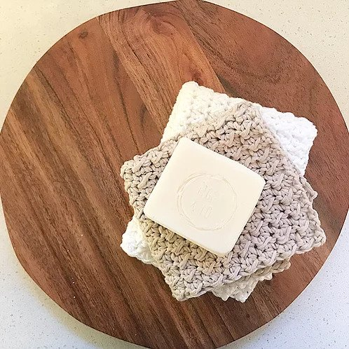 Figgy and Co natural eco cleaners natural dish cloth cotton