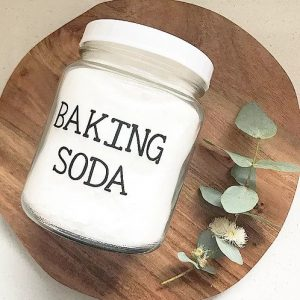Figgy and Co natural eco cleaners baking soda label _ dry ingredients