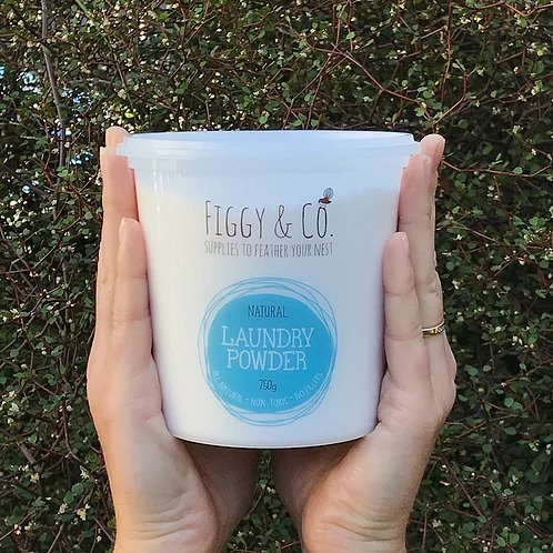 Figgy and Co natural nontoxic eco cleaning nz Laundry powder_natural_750g