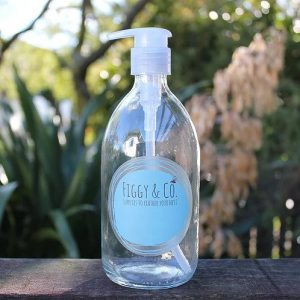 Figgy and Co glass bottle natural nontoxic eco green cleaners DIY pump hand soap nz